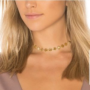 Gorjana chloe hammered choker necklace